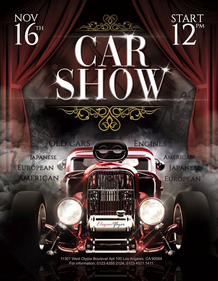 Car Show Flyer Template Free New Car Show – Free Flyer Psd Template – by Elegantflyer