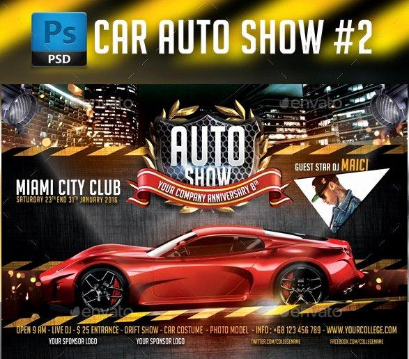 Car Show Flyer Template Free Unique 20 Cool Automotive Flyer Templates
