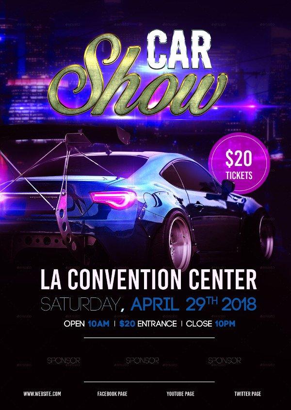 Car Show Flyer Template Free Unique 25 Car Show Flyer Templates Free & Premium Download