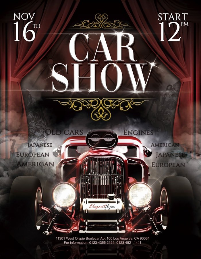 Car Show Flyer Template Free Unique Free Psd Flyers & Poster Templates