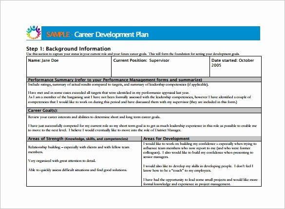 Career Path Planning Template Inspirational Career Plan Template