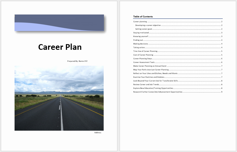 Career Path Planning Template Lovely Career Plan Template – Word Templates for Free Download