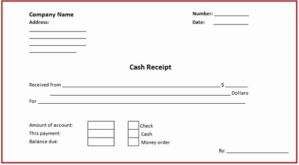 Cash Payment Receipt Template Best Of Receipt