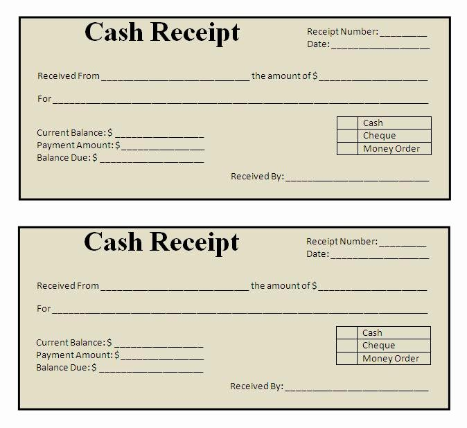 Cash Payment Receipt Template Inspirational Receipt Templates