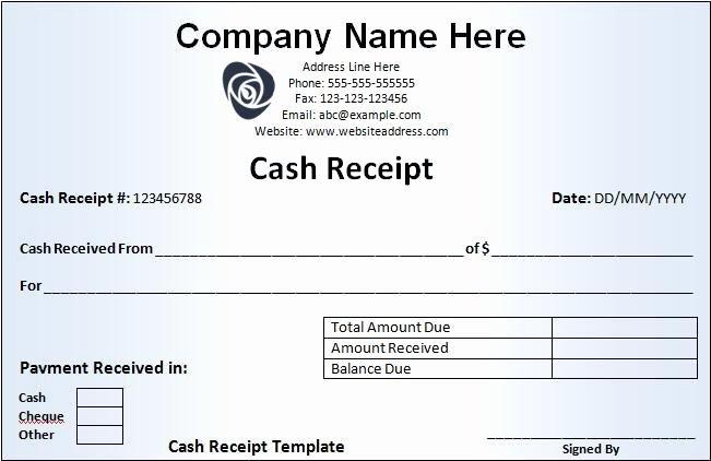 Cash Receipt Template Word Beautiful Cash Receipt Template