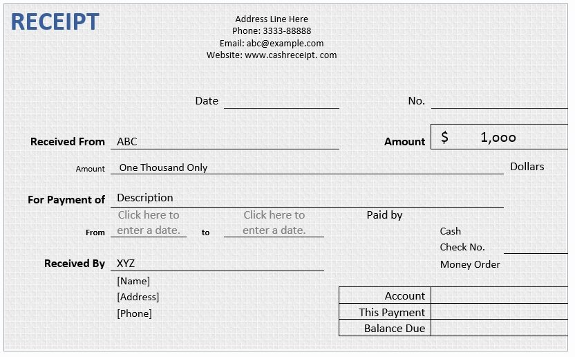 Cash Receipt Template Word Best Of Cash Receipt – Word Template – Word Templates for Free