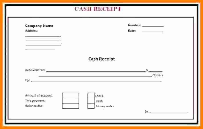 Cash Receipt Template Word Elegant 7 Cash Payment Voucher format In Word