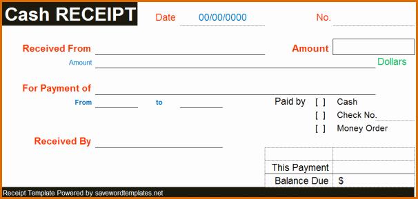 Cash Receipt Template Word Fresh 6 Cash Receipt Template Word