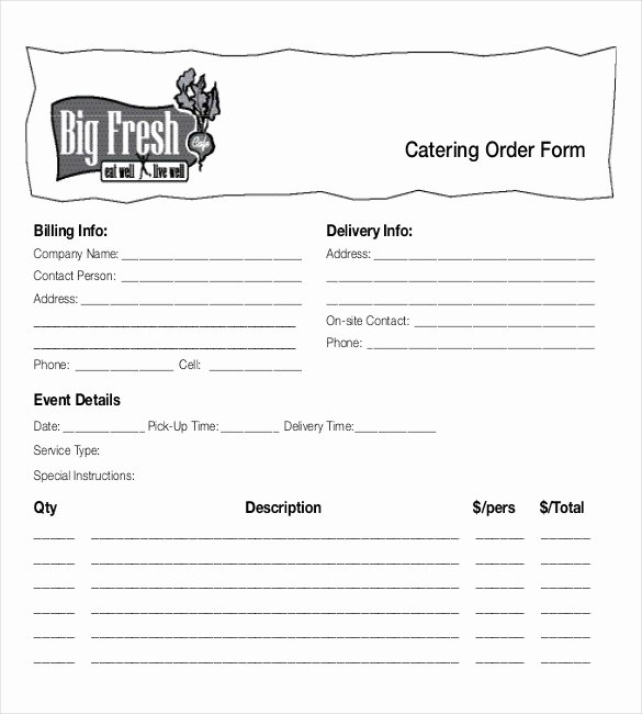 Catering order form Template Best Of 18 Food order Templates – Docs Word