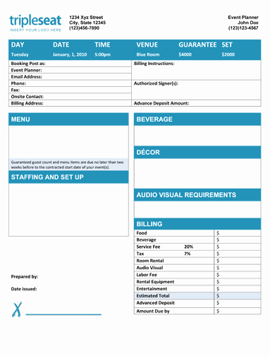 Catering order form Template Word Best Of Banquet event order Sample Google Search