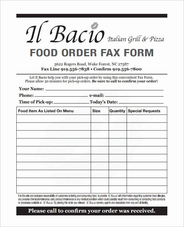 Catering order form Template Word Elegant 29 order form Templates Pdf Doc Excel