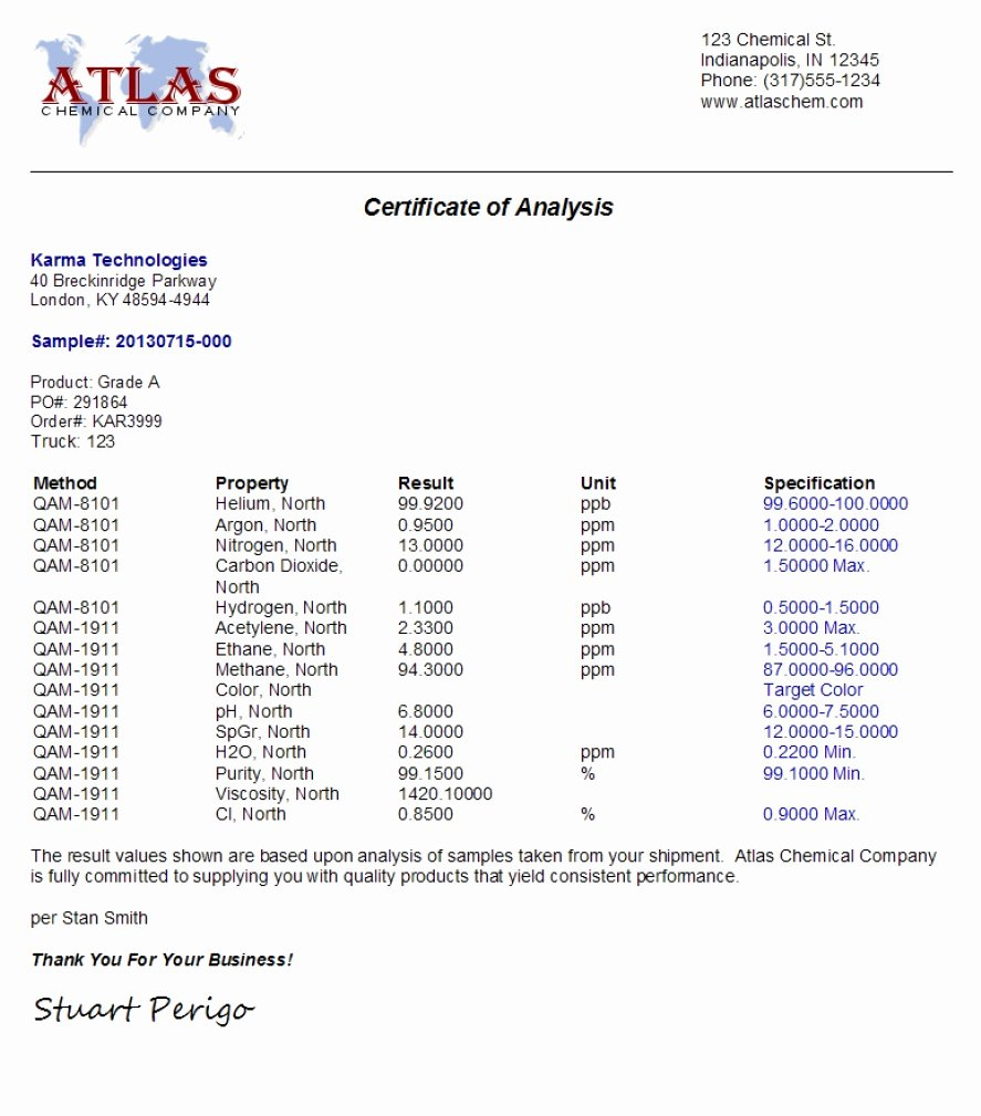 Certificate Of Analysis Template Awesome Coa Certificate Analysis Quick Certificate Analysis