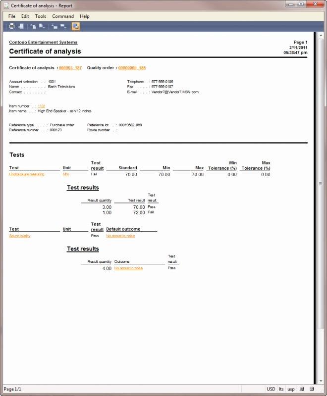 Certificate Of Analysis Template Beautiful Certificate Analysis