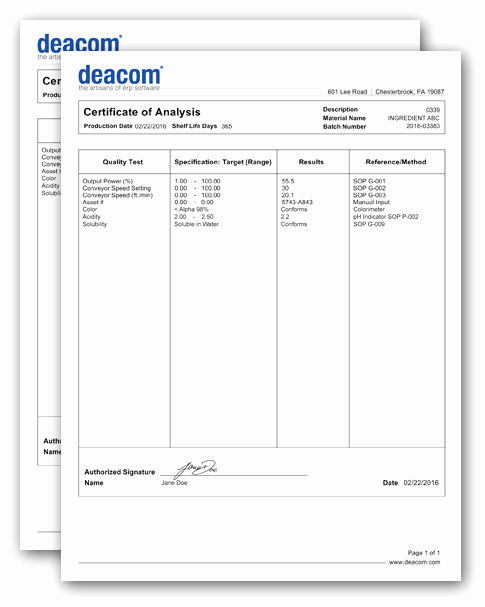 Certificate Of Analysis Template Best Of Certificate Of Analysis Document Generation