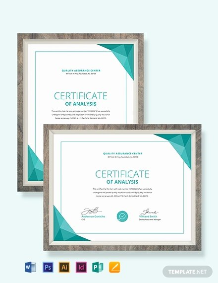 Certificate Of Analysis Template Lovely Free Club Membership Certificate Template Download 518
