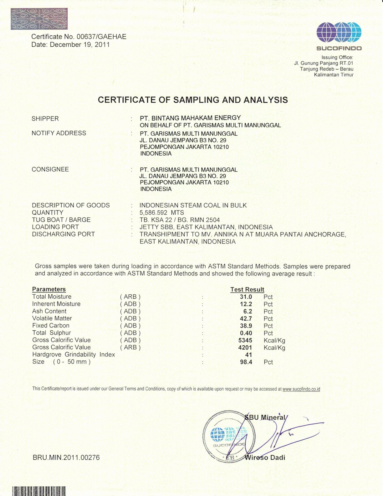 Certificate Of Analysis Template Luxury Rezeki Alam Ca K