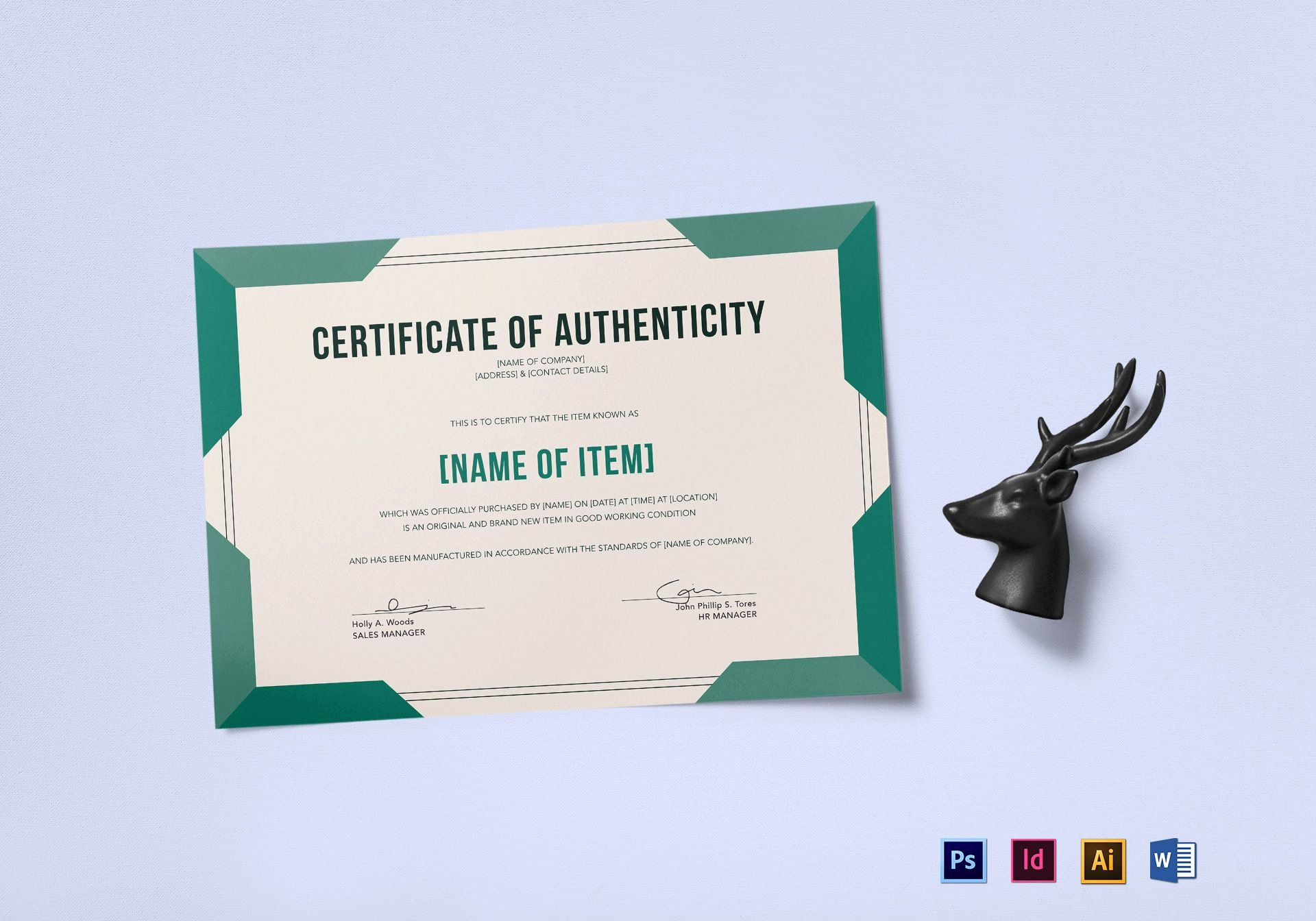 Certificate Of Authenticity Template Free Beautiful Elegant Certificate Of Authenticity Design Template In Psd