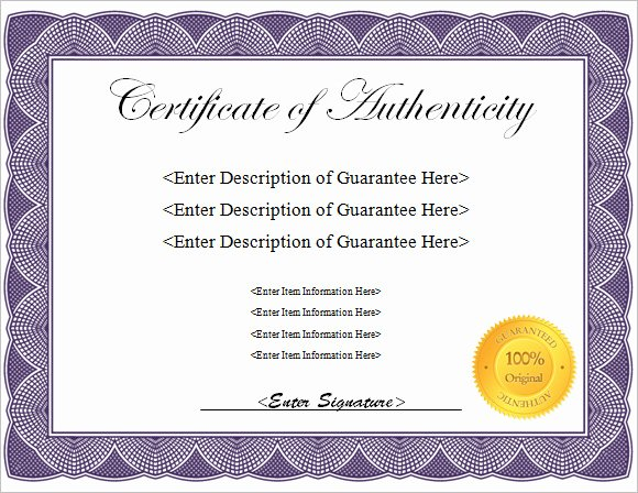 Certificate Of Authenticity Template Free Best Of 16 Sample Certificate Of Authenticity Documents In Pdf Psd