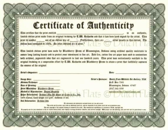 Certificate Of Authenticity Template Free Elegant Certificate Authenticity Templates Word Excel Samples