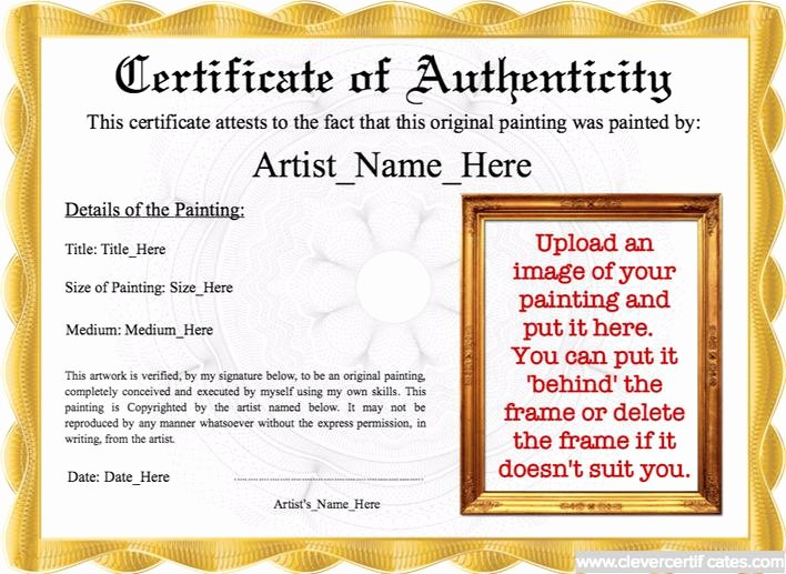 Certificate Of Authenticity Template Free Luxury Download Best Student Certificate Of Authenticity Template