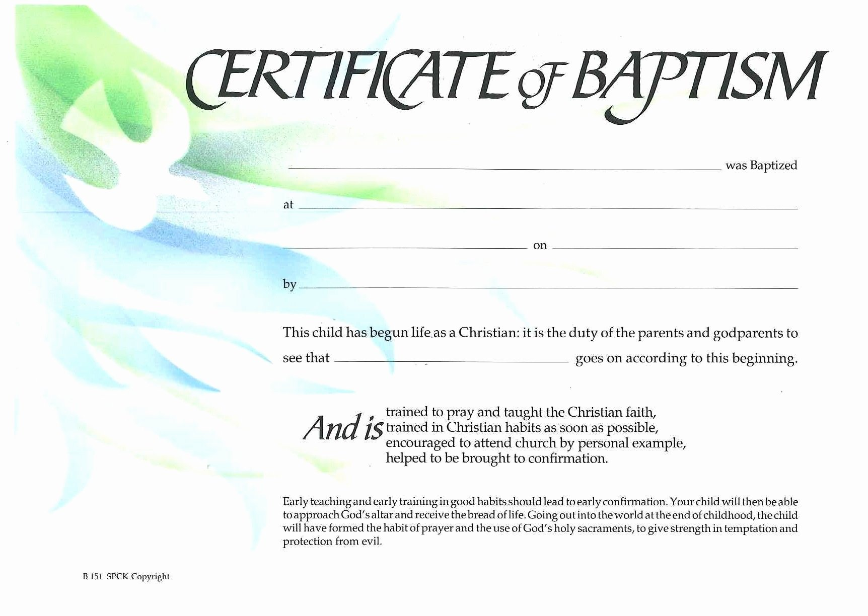 Certificate Of Baptism Template Awesome Baptism Certificate Xp4eamuz Sunday School