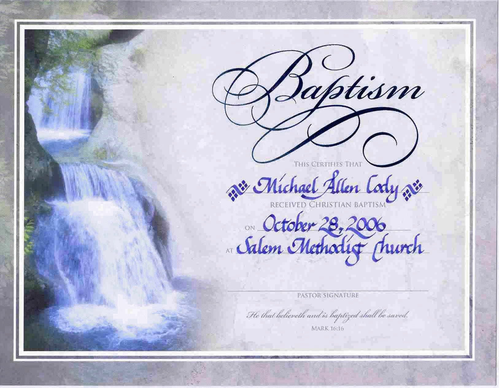 Certificate Of Baptism Template Awesome Water Baptism Certificate Templateencephalos