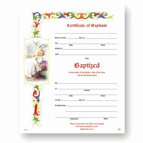 Certificate Of Baptism Template Best Of Baptism Certificate 50 Pack