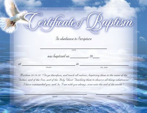 Certificate Of Baptism Template Best Of Baptism Certificates Free