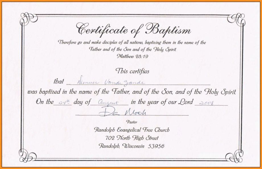 Certificate Of Baptism Template Fresh top Exhilarating Printable Baptism Certificate