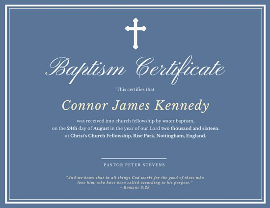 Certificate Of Baptism Template Inspirational Elegant Baptismal Certificate Templates by Canva