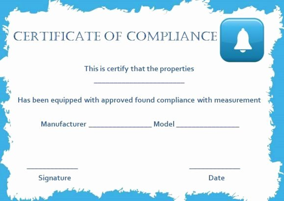 Certificate Of Compliance Template Awesome 16 Best Certificate Of Pliance Images On Pinterest