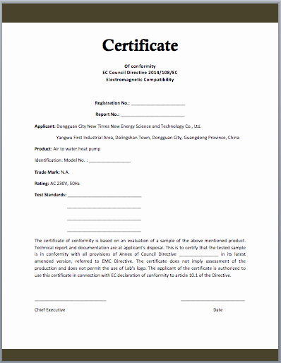 Certificate Of Compliance Template Inspirational Conformity Certificate Template Microsoft Word Templates