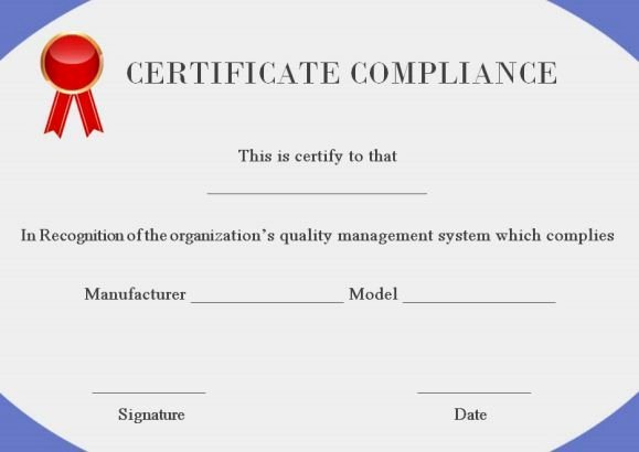 Certificate Of Compliance Template Lovely 16 Best Certificate Of Pliance Images On Pinterest