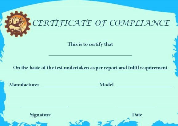 Certificate Of Compliance Template Luxury Waterproofing Certificate Of Pliance Template
