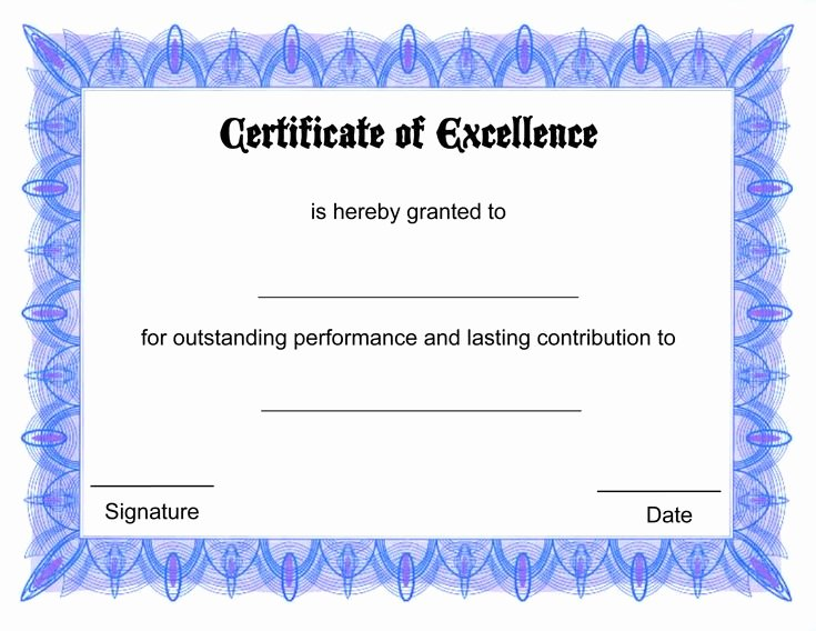 Certificate Of Excellence Template Beautiful 25 Best Ideas About Blank Certificate On Pinterest