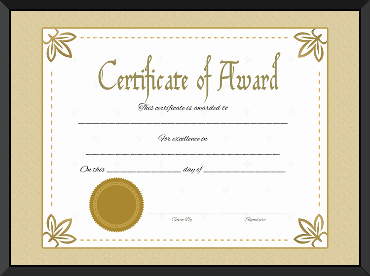 Certificate Of Excellence Template Beautiful Award Certificate Of Excellence Template
