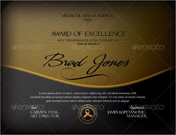 Certificate Of Excellence Template Beautiful Free 13 Sample Certificate Of Excellence Templates In