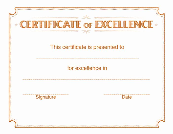Certificate Of Excellence Template Best Of 15 Training Certificate Templates Free Download Designyep