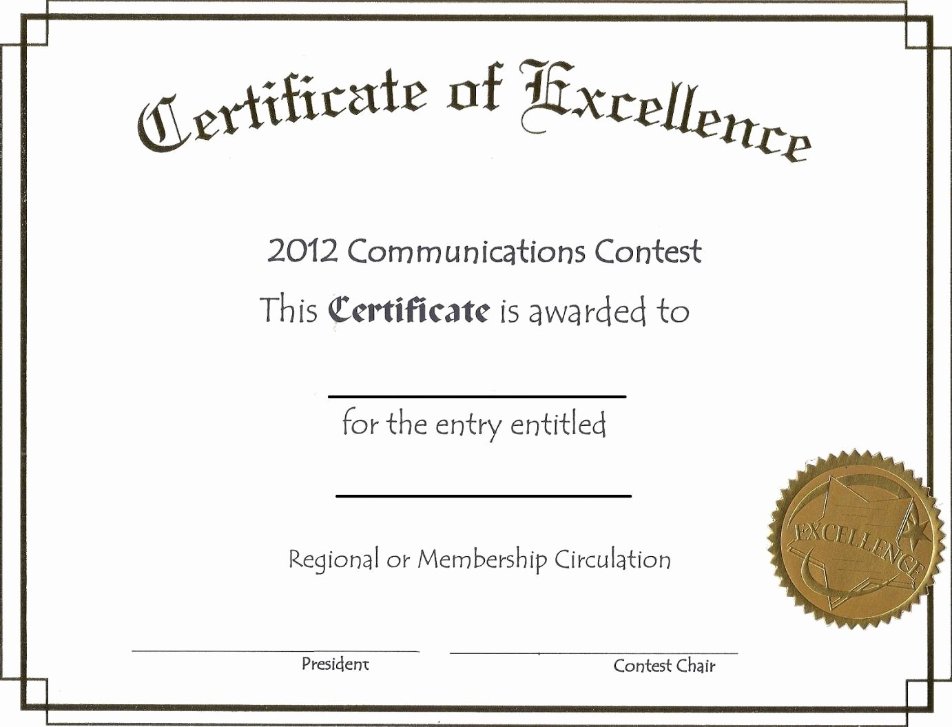 Certificate Of Excellence Template Inspirational Free Download Award Certificate Template Samples Thogati