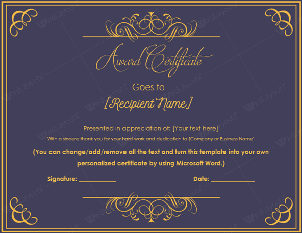 Certificate Of Excellence Template Luxury 10 Best Award Certificate Templates for 2016