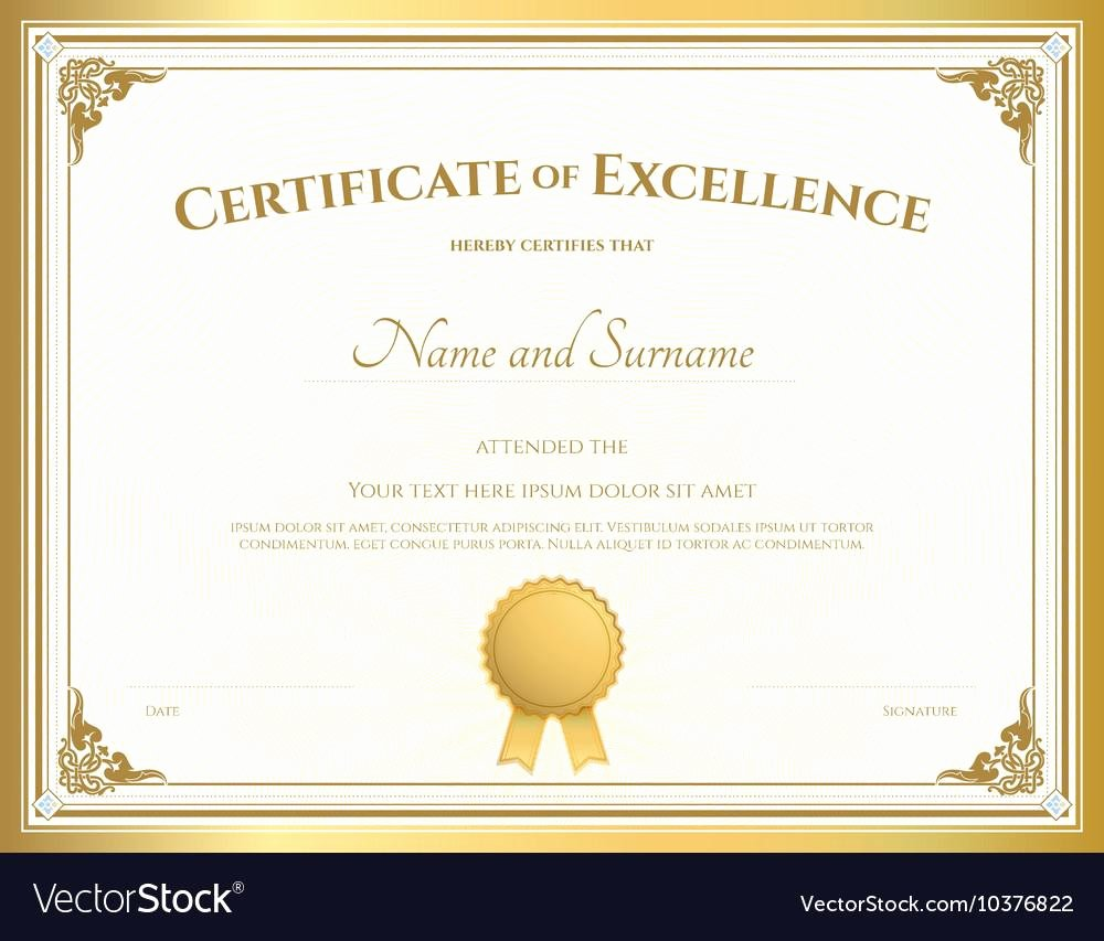 Certificate Of Excellence Template Luxury Best 65 Line Certificate Template – Mega Gallery Image Site