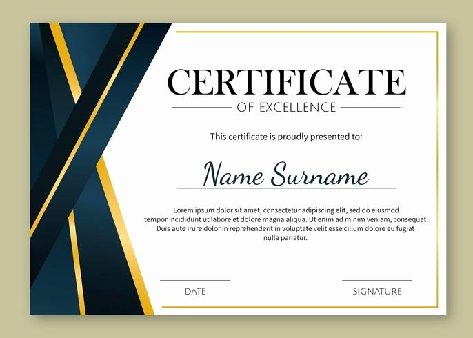 Certificate Of Excellence Template Luxury Gold Details Certificate Of Excellence Template Download