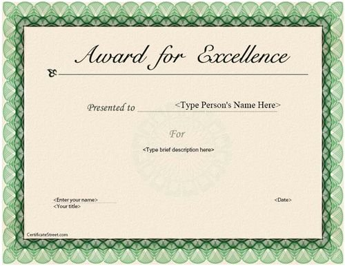 Certificate Of Excellence Template Unique 40 Best Images About Business Certificates
