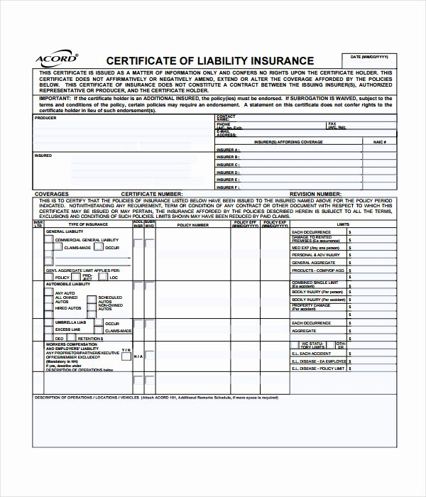 Certificate Of Insurance Template Beautiful 15 Certificate Templates Free Word Pdf Documents Download