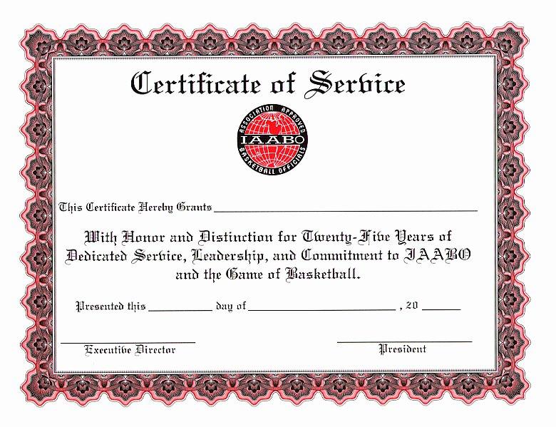 Certificate Of Service Template Beautiful Certificates