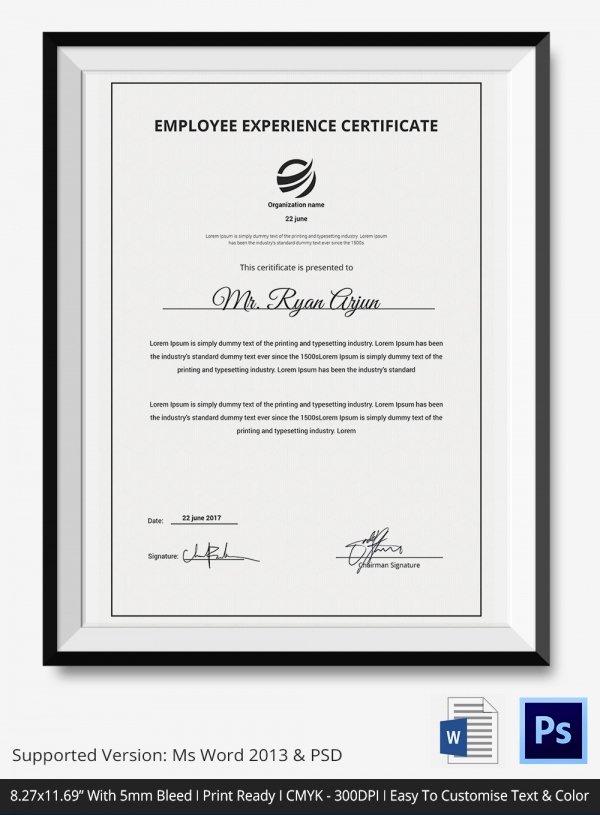 Certificate Of Service Template Elegant Certificate Of Service Template 11 Free Word Pdf