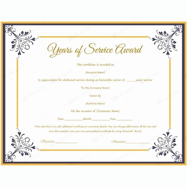 Certificate Of Service Template Elegant Certificate Templates