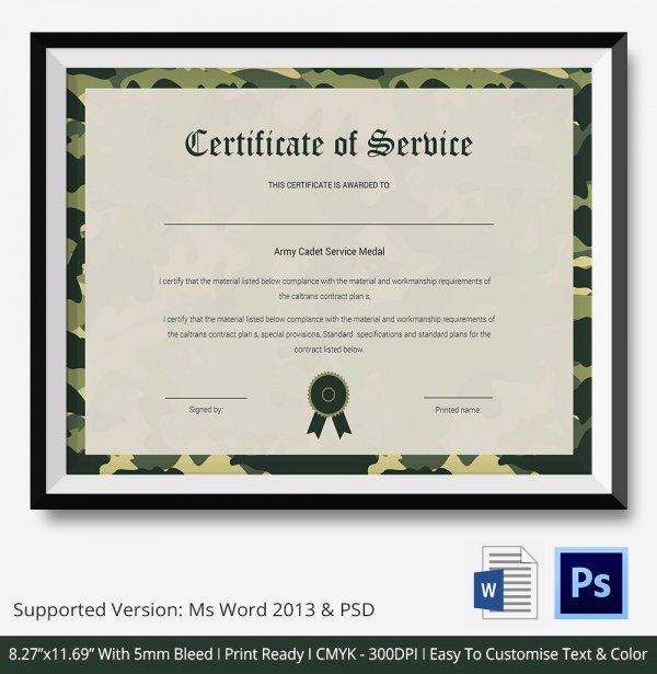 Certificate Of Service Template Luxury Certificate Of Service Template 11 Free Word Pdf