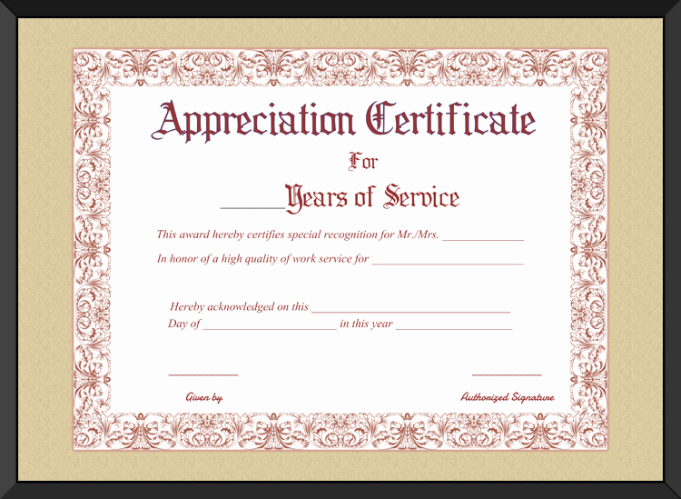 Certificate Of Service Template Luxury Certificate Templates