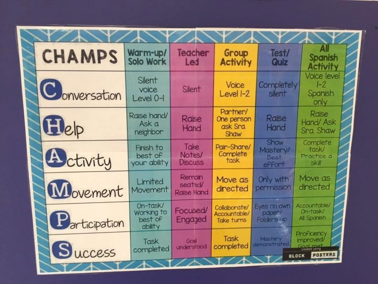 Champs Classroom Management Plan Template Best Of Online Champs Classroom Management Plan Template